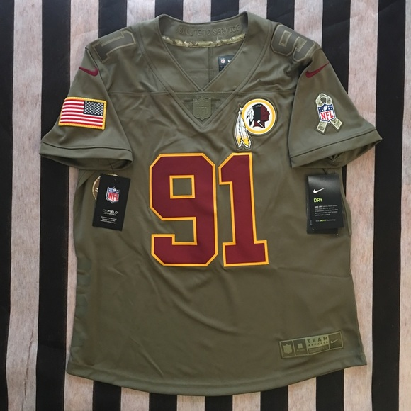 size 40 2f4e4 50194 Redskins Salute to Service Kerrigan Jersey Womens NWT